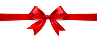 Red bow. Vector Stock Photo