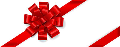 Red bow. Vector vector illustration