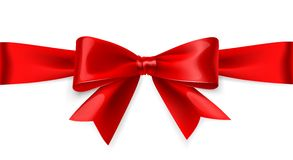 Red bow. Vector Stock Image
