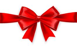 Red bow. Vector Royalty Free Stock Photo