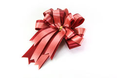 Red bow on a white background Stock Image