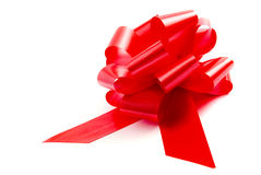 Red bow. On white background Royalty Free Stock Photos