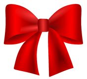 red bow on a white background vector illustration