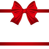 Red bow on a white background Royalty Free Stock Photo