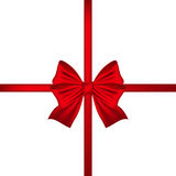 Red bow on a white background Stock Images