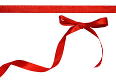 Red bow on white background Royalty Free Stock Photography