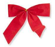 Red bow on the white background Stock Images