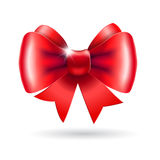 Red bow on a white background Royalty Free Stock Photography