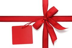 Free Red Bow With Label Royalty Free Stock Photos - 6570548