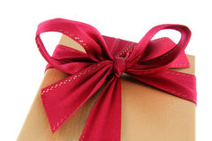 Red Bow Xmas Gift Royalty Free Stock Photography