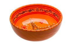 Red bowl Royalty Free Stock Images