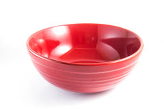 Red bowl, isolated Stock Image