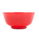 Red bowl isolated on white background Royalty Free Stock Image