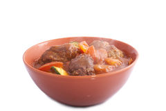 Red bowl kofta royalty free stock images