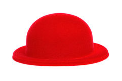 Red bowler hat Stock Photography