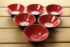 Red Bowls Stock Photo