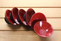 Red Bowls Royalty Free Stock Image
