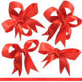 Red bows. Royalty Free Stock Photography
