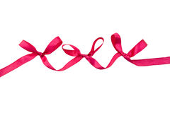 Red bows. Isolated on a white background with clipping path Stock Images