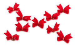 Red bows. Royalty Free Stock Images