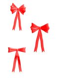 Red Bows 300 dpi Royalty Free Stock Image