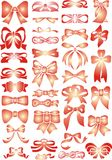 Red bows Stock Photos