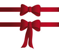 Red bows. Two red bows for gits vector and isolated on white background Stock Images