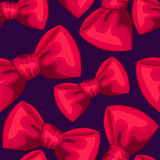 Red bows seamless pattern Royalty Free Stock Images