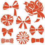 Red-bows-set Stock Photos