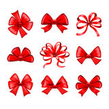 Red bows vector set Stock Photography