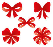 Red bows. Royalty Free Stock Image
