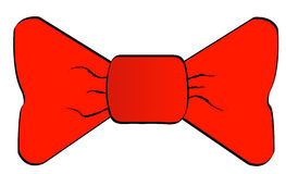 Red bowtie. Isolated on white background - vector Royalty Free Stock Image