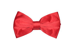 Red bowtie. Overhead view of a red bowtie Royalty Free Stock Photo