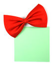 Red bowtie with paper note Stock Photos