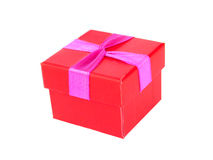 Red box. Red present box royalty free stock photography