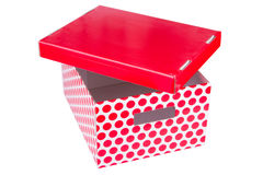 Red box. Red cardboard box isolated on white background stock photo