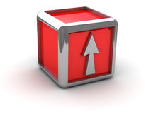 Red box with arrow Royalty Free Stock Photos