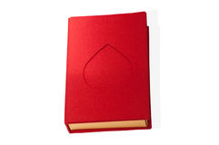 Red box book shape with a heart isolated.  Royalty Free Stock Photos