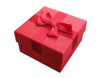 Red box with bow Stock Image