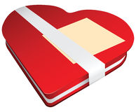 Red box of chocolates Stock Images