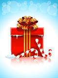 Red box with christmas gift Stock Images