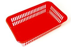 Red box for different little things. royalty free stock photography