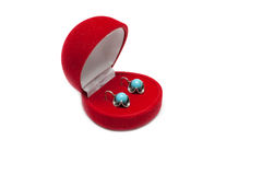 Red box with earring Stock Photo
