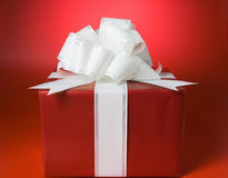 Red box gift Stock Photography
