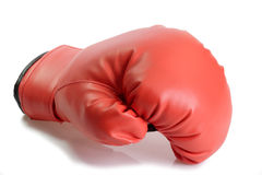 Red box glove. One red boxing glove on bright background Stock Images