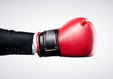Red box glove Royalty Free Stock Image