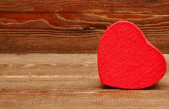 Red box in heart shape Stock Images