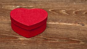 Red box in heart shape Royalty Free Stock Image