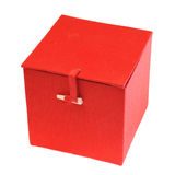 Red box isolated on white Stock Images