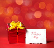 Red box with letter Royalty Free Stock Photo